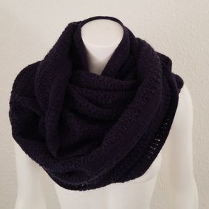 Navy Thick Infinity Winter Sweater Scarf Wrap